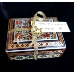 Miniature  Gold, Frankincense & Myrrh Khatam box