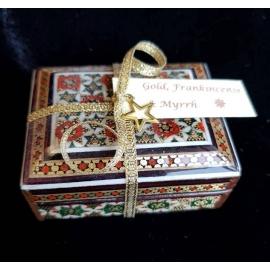 Miniature  Gold, Frankincense & Myrrh Khatam box