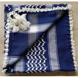 Shemagh Scarf ~ Navy / White