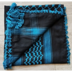 Shemahg Scarf ~ Black / Turquoise