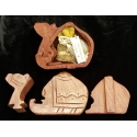 Wooden camel puzzle box with Gold, Frankincense & Myrrh