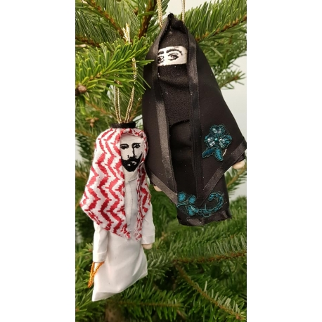 Arabian doll tree ornament ~ Set of two