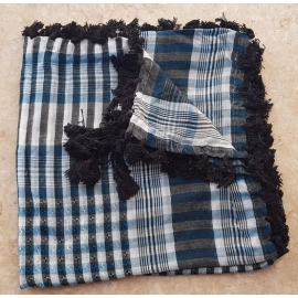 Shemagh scarf ~ Teal / Black
