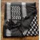 Shemagh scarf ~ Black/Grey