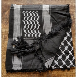 Shemagh scarf ~ Black/Grey