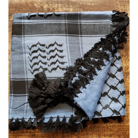 Shemagh scarf ~ Chambray