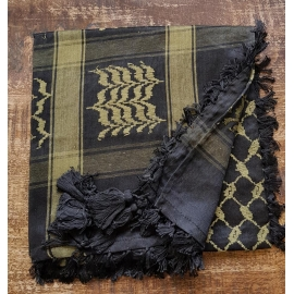 Shemagh Scarf ~ Black / Green Camo