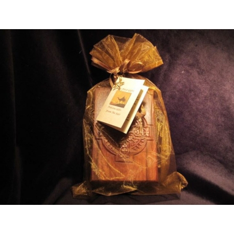 Gold, Frankincense and Myrrh A Carved Wood Gift Box