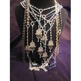 Hamsa Necklace Boho Style