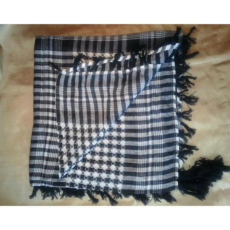 Shemagh scarf ~ Black / White