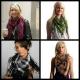 Shemagh scarf - White/black/ white tassels