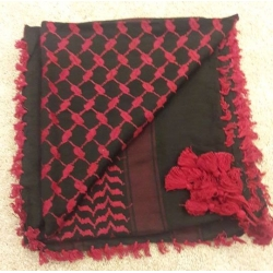 Shemahg Scarf ~ Black / Red