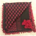 Shemahg Scarf ~ Black / Red