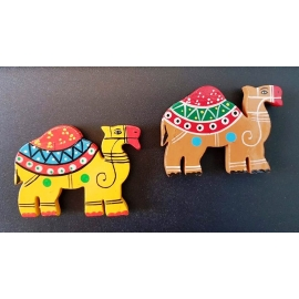 Painted Wooden Fridge Magnet